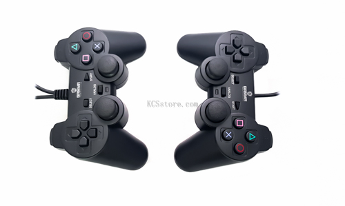 Double Games Pad Wired PC Turbo Function USB