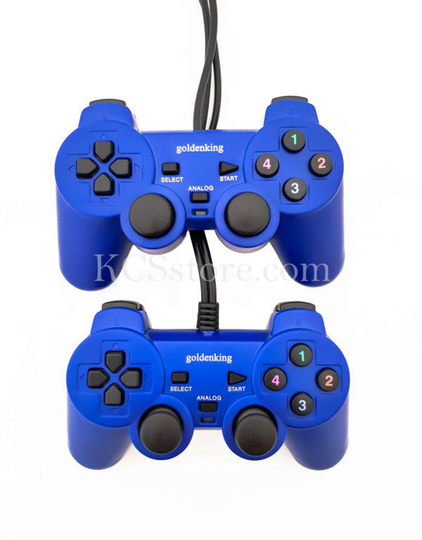 GOLDENKING DOUBLE SHOCK CONTROLLER GAME PAD FOR PC , LAPTOP