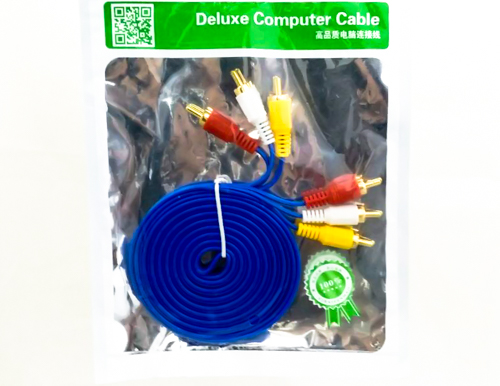 deluxe cable audio & video 3x3 1.5M