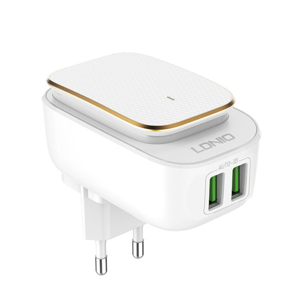 LIDNIO A2205 Home Charger LED TOUCH LAMP WITH USB 2PORT CHARGER