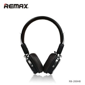 REMAX RB-200HB Wireless Bluetooth Headphone V4.1 all Smart Phones Devices with Bluetooth HIFI Bass Resonance Stereo Comfortable - Black