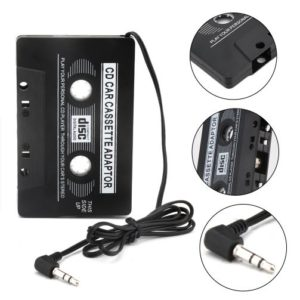 Car Audio Cassette Tape Adapter Converter 3.5 MM To AUX CD