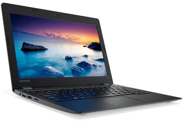 Lenovo Ideapad 110S (11, Intel) Front Left View of HD Display