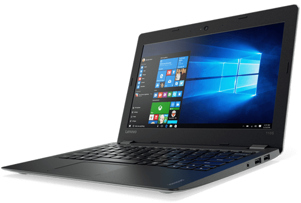 Lenovo Ideapad 110S (11, Intel) Front Right View Featuring Windows 10 Home