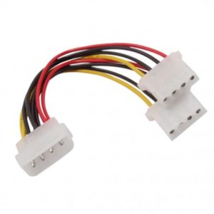 Power IDE 4 Pins 2 Female to 1 Male Splitter Cable