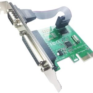 PCIE to 1 Port Serial RS232 + 1 DB25 LPT Parallel Expansion Card with Low-Profile Bracket(PCI-E IS1P)