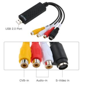 Video Audio Camera USB 2.0 DVR CCTV Recorder Adapter Card for PC Laptop