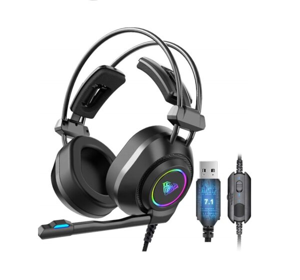 Aula S600 AUX 3.5mm RGB Gaming Headset with Microphone 7.1